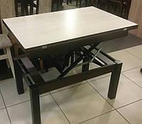 Стол трансформер  Флай 92х60,5х50/121х92х75 дуб шамони светлый+венге (комбинированный)