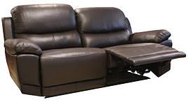 """Стильний шкіряний диван з реклайнером """"MONTANA"""""""