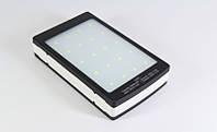 Внешний аккумулятор с солнечной батареей и LED фонарем Metal solar 15000mAh (реальная емкость 6000) UKC