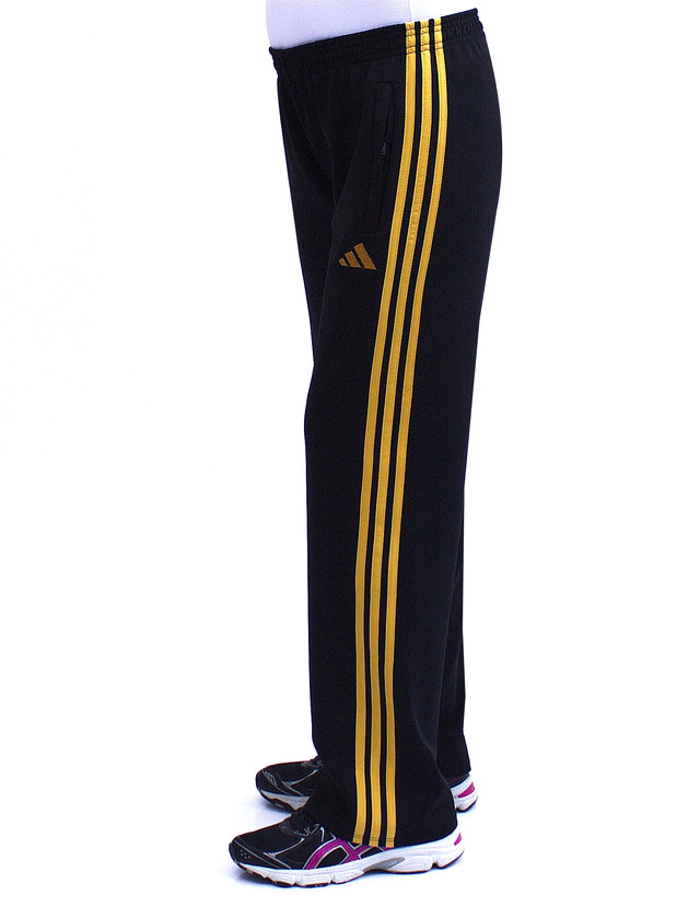 Женские спортивные брюки трикотажные с желтыми полосками фото teens.ua