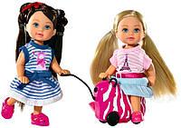 Кукла Штеффи Каникулы Steffi and Evi Love с чемоданом Simba