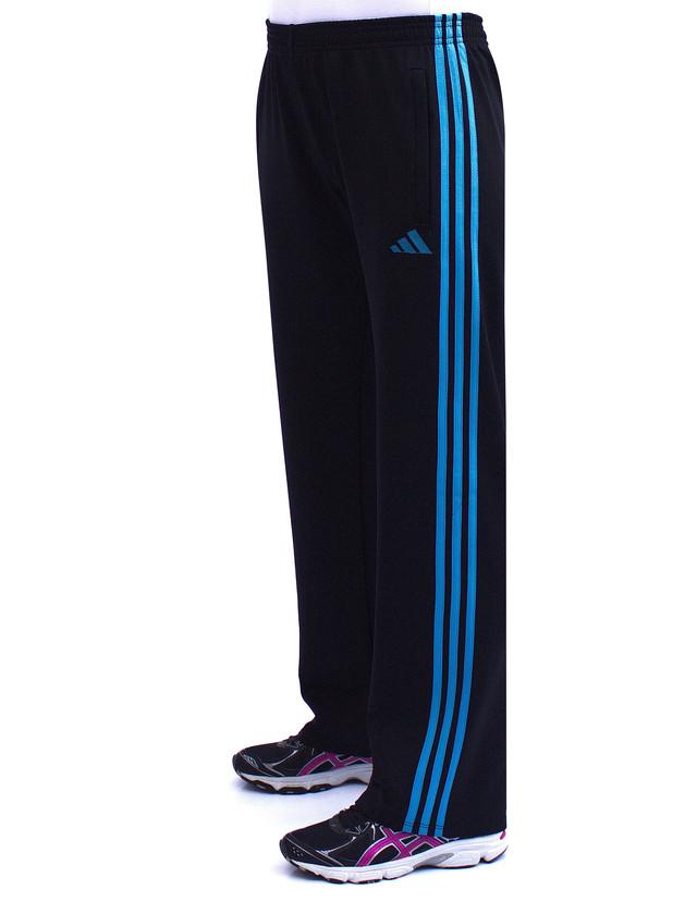 Женские спортивные брюки трикотажные с бирюзовыми полосками фото teens.ua