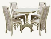 Комплект стол и стул Астон (Лак Слоновая кость)