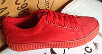 Женские кроссовки №016 (красные)