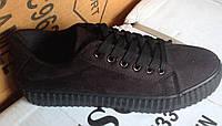 Женские кроссовки №016 (черные)