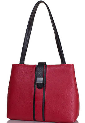 Яркая женская сумка из натуральной кожи DESISAN (ДЕСИСАН) SHI1521-172-1FL красный