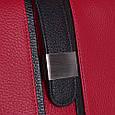 Яркая женская сумка из натуральной кожи DESISAN (ДЕСИСАН) SHI1521-172-1FL красный, фото 6