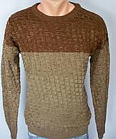 Мужской турецкий свитер коричневый