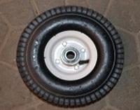 Колесо для тачки пневматическое 3.50-4/204 (белая ступица), фото 1