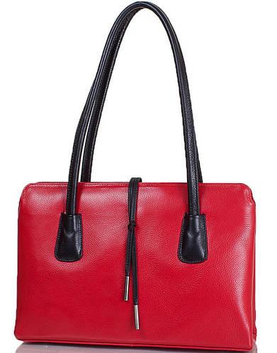 Интересная женская сумка из натуральной кожи DESISAN (ДЕСИСАН) SHI060-172-1FL красный