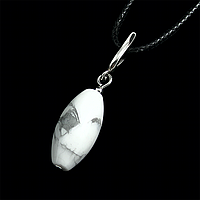 Кахолонг, серебро 158КЛК, кулон