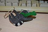 Брошь енот в шарфике, фото 3