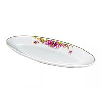 Тарелка для рыбы 14 'Сакура (35 * 14 * 3,5 см) ST 30826