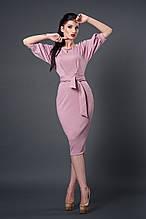 Платье мод №256-6, размеры 50 розовый кварц