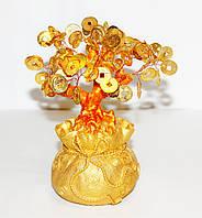 Дерево с монетками в мешке