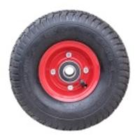 Колесо для тачки пневматическое 3.50-4/204 (красная ступица)