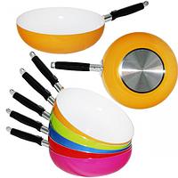 Сковородка WOK с керамическим покрытием 26 см Toscana 80214