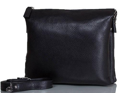 Удобная женская сумка из натуральной кожи DESISAN (ДЕСИСАН) SHI2811-011-2FL черный