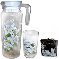 Набор для сока Лилия (кувшин 1,2л, стакан 250мл) ST 9040