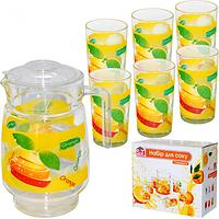 Набор для сока 7 эл. (Кувшин 1,77л 6 стаканов 190мл) 5 Апельсиновый фреш ST 904