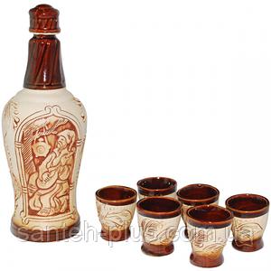 Набор винный Гетьман (бутылка0.9л, стакан150мл) ST 50101