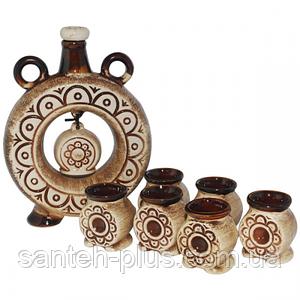 Набор винный Куманок (бутылка -1,1л.,стакан -100мл) ST 50101