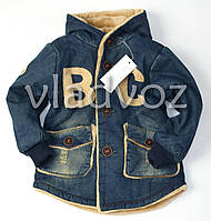 Детская джинсовая парка для мальчика подкладка BC 7-8 лет