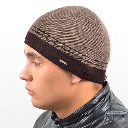 Мужская вязанная шапка NORD Коричневый, фото 2