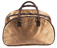 Стильная удобная дорожная сумка саквояж золотистого цвета art. 2546