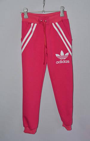 Детские спортивные штаны на байке для девочки Адидас 6-12 лет , фото 2