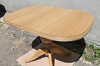 Стол деревянный Эмиль 107(+38)х73,5х75 (натуральный/натуральный темный)