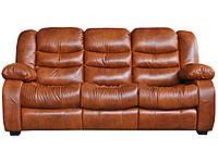 Стильный диван для гостиной с механизмом реклайнер - Манхэттен, коричневый (228см)
