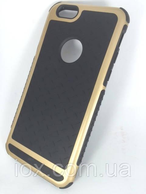 Золотой ультратонкий ударопрочный комбинированный чехол для Apple iPhone 6\6S