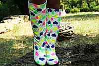 Женские осенние стильные высокие яркие сапоги. Арт-0613, фото 1