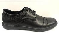 Туфли мужские больших размеров кожаные черные Uk0161