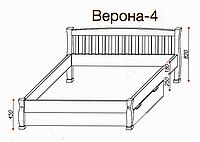 """Кровать """"Верона-4"""" из массива ольхи (Темп)"""