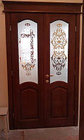 Дверь двойная межкомнатная ольха