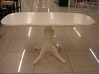 Стол деревянный  в гостиную Эмиль 107(+38)х73,5х75 (ваниль)