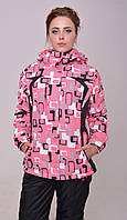 Женская горнолыжная зимняя куртка (очень теплая) розовая