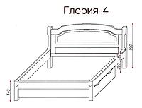 """Кровать """"Глория-4"""" из массива ольхи (Темп)"""
