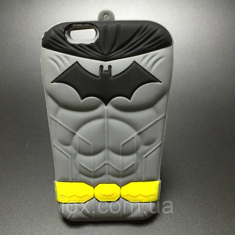 Мягкий силиконовый чехол Бэтмен для Iphone 5\5s