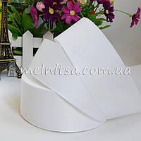 Лента репсовая белая, 4 см