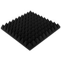 """Акустический поролон """"Пирамида 70"""" 50*50 см. звукопоглощающий. Черный графит"""