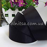 Лента репсовая черная, 4 см