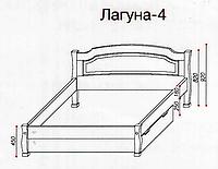 """Кровать """"Лагуна-4"""" из массива ольхи (Темп)"""