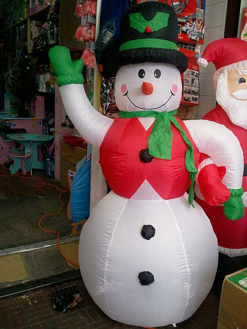 Снеговик надувной, 2,2 м