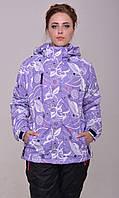 Женская горнолыжная термо-куртка фиолетовая