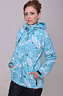 Женская горнолыжная термо-куртка светло-голубая