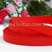 Лента репсовая красная, 0,9 см