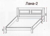 """Кровать """"Лана-2"""" из массива ольхи (Темп)"""